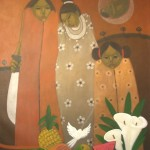 My small family/Mi pequeña familia, Acrylic on canvas 30x36 inches - Private collection, Guatemala