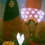 Song of hope/Canto a la esperanza, Acrylic on canvas 30x36 inches - Private collection, Denmark