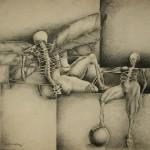 Homage to the poet/Homenaje al poeta, Ink 20x13 inches