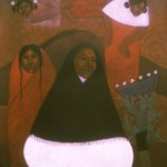 Widows/Viudas, Acrylic on canvas 30x36 inches - Private collection