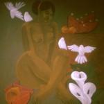 Evocation/Evocación, Acrylic on canvas 30x36 inches - Private collection, USA