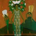Beautiful freedom and the tree of desires/Bonita libertad y el arbol de los deseos, Acrylic on canvas 24x30 inches - Private collection, Japan