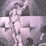 The brothel series/La serie el burdel (1989) Ink 8.5x11.5 nches