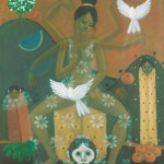 Beautiful freedom, weaving hope/Bonita libertad, tejiendo la esperanza, Acrylic on canvas 24x30 inches - Private collection, Japan