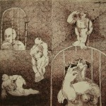 The brothel series/ La serie el burdel, Ink 10.5x13.75 inches