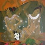 Celebration of life/Celebración de la vida, Acrylic on canvas 30x36 inches - Private collection, Norway