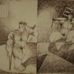 Acrobat series/La serie acrobatas, Ink 8x11.5 inches