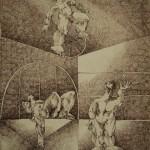 Circus series/La serie cirqueros, Ink 10.5x13.75 inches