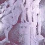 Aberrations of life/De las aberraciones  de la vida (1991) Ink 10.5x13.75 inches